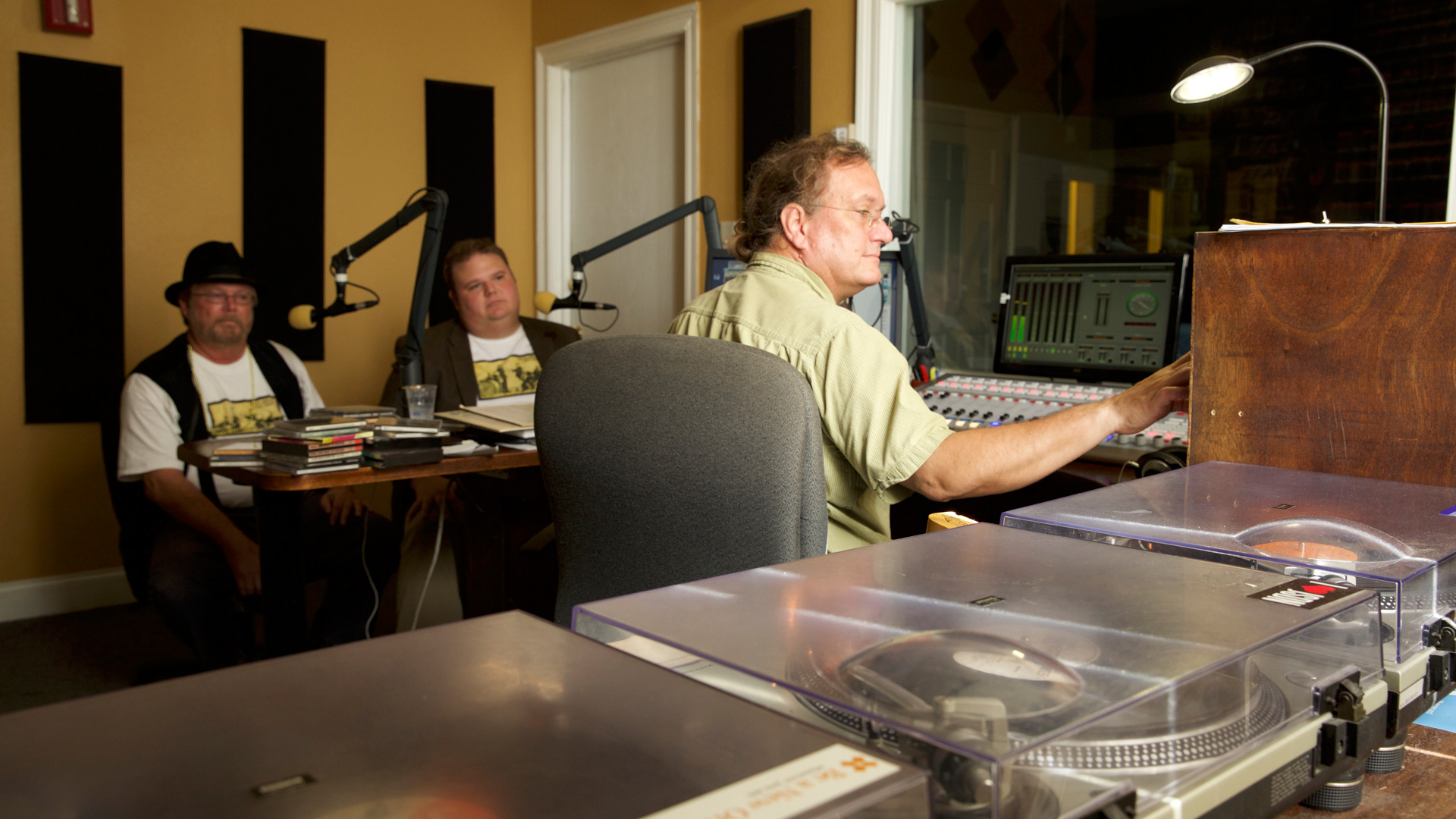WWOZ Studios - Traditional Jazz by Dan Meyer, New Orleans 2015